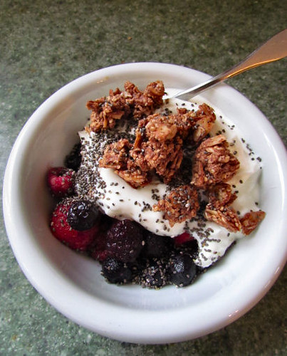 Grain Free Granola on Greek Yogurt