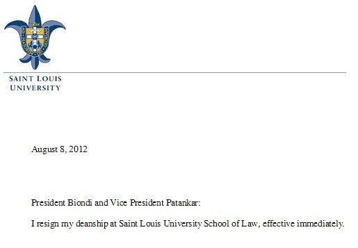 SLU Law dean square screen shot