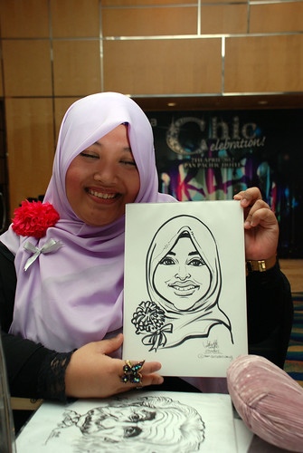 caricature live sketching for Civica Dinner & Dance 2012 - 12