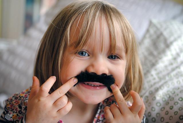 P with moustache