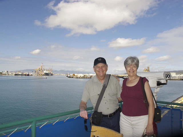 Phil & Louise at the Honolulu Port