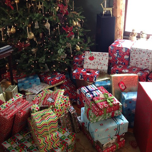 I think a few people in my family went a little overboard  with presents this year. :)