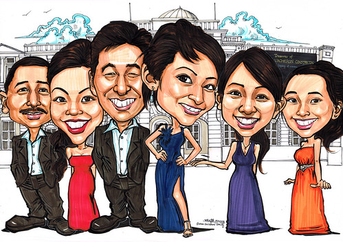 group caricatures for Vacheron Constantin