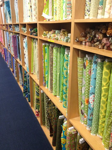 The array of fabrics at The City Quilter #happy365 H362/2 by Jenelle Blevins