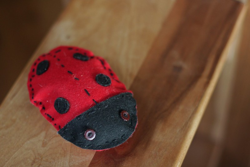 Lady bug made by C (age 4) for her big sister