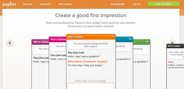 Online Website Resources - Zopim