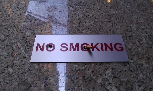 no smoking, with attitude displayed