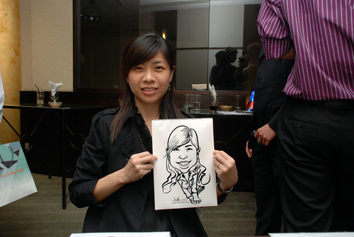 caricature live sketching for NUS - 5