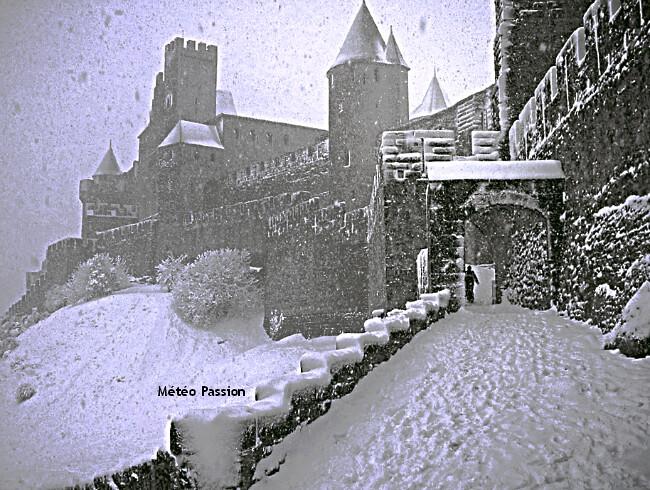 illustration de l'épisode neigeux remarquable du 12 janvier 1981 à Carcassonne météopassion