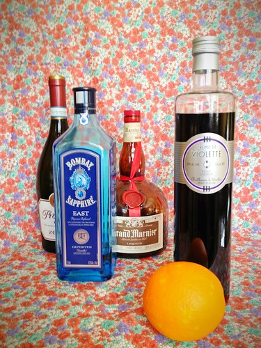 Orange-Violet Cocktail Recipe