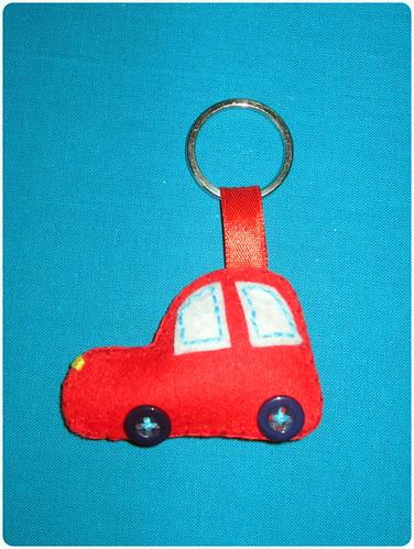 Llavero coche fieltro - ChikiPol