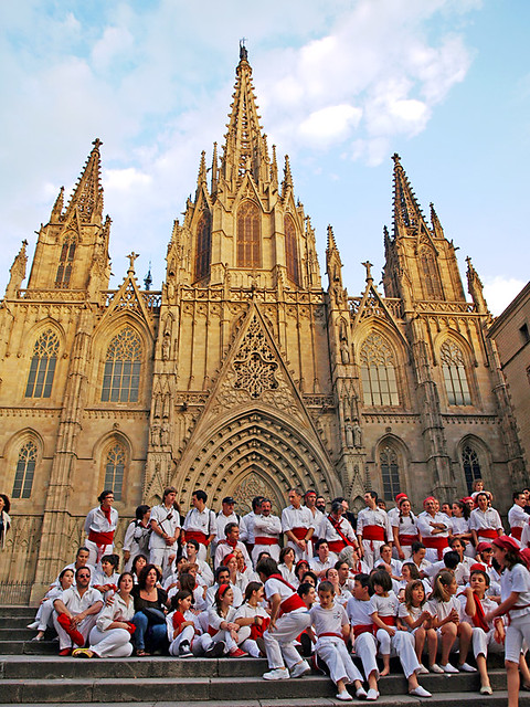 Barcelona Cathedral and Casteliers