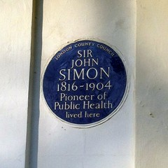 Photo of John Simon blue plaque