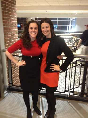 Red and black game day dresses