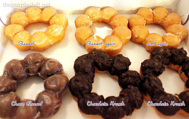 Gavino's Donuts Glazed, Chocolate Glazed, Chocolate Krunch