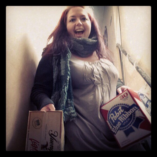 Party planning involves spreadsheets & hauling beer.  We're ready for Yes Ma'am on Saturday!