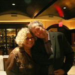 Rita Houston and Danny Buch. January 20, 2013: A night of music, food and wine to benefit WFUV Public Radio.