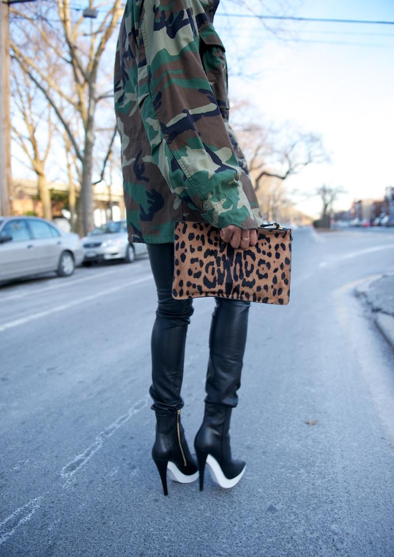 Jerome Dreyfuss leopard clutch