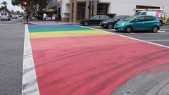 Rainbow Crosswalk in Weho