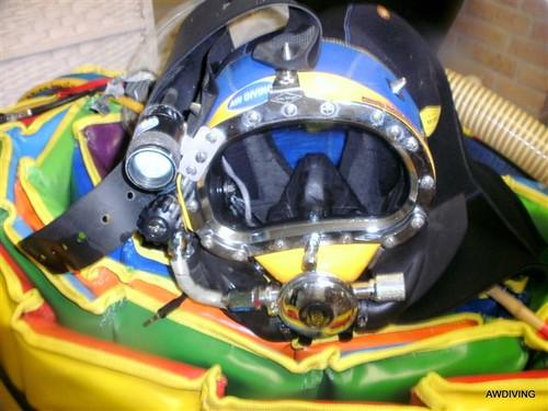 Duikmasker met communicatie en licht