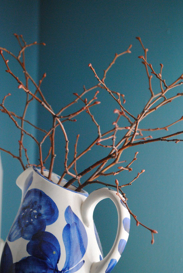 Branches in Blue Vase