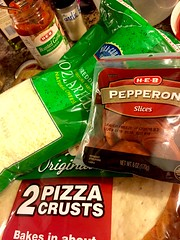 Build-your-own pepperoni pizza kit