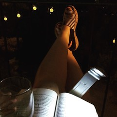 Balcony, book, wine: peace, bliss, joy.
