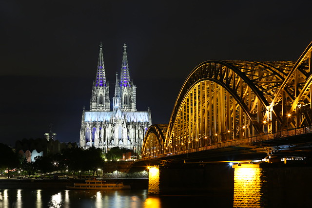 Cologne classic with blue lights