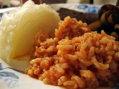 Cabbage And Spanish Rice.