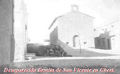 Desaparecida Ermita de Sant Vicent a Chert.