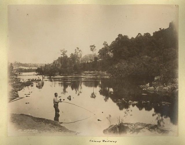 Fishing by the Barron River at Kuranda