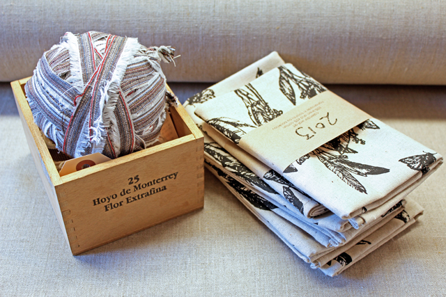 Selvedge yarn and calendars