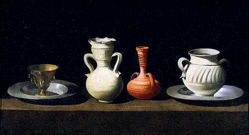 Zurbaran - Still-life with pottery jars [1650]