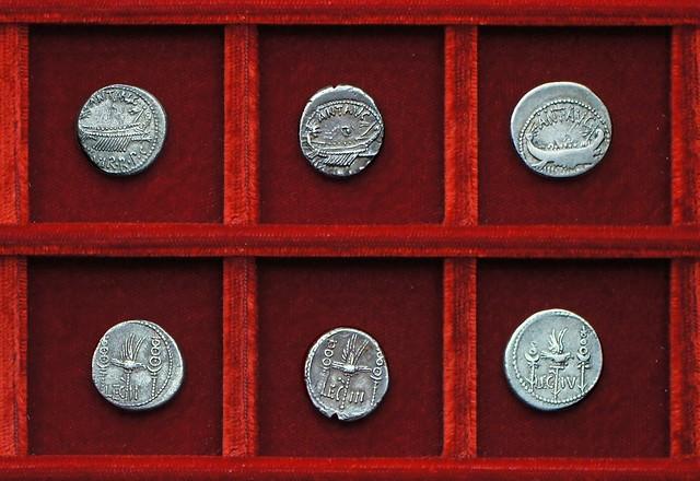 RRC 544-14-15-17, LEG II, LEG III, LEG IV Antony legions, Ahala collection Roman Republic