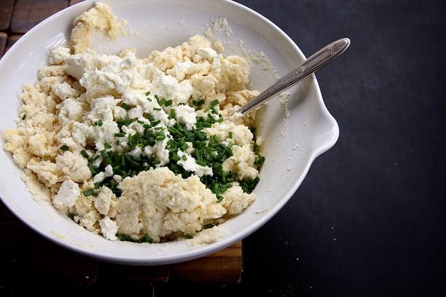 Feta and Chive Sour Cream Scone