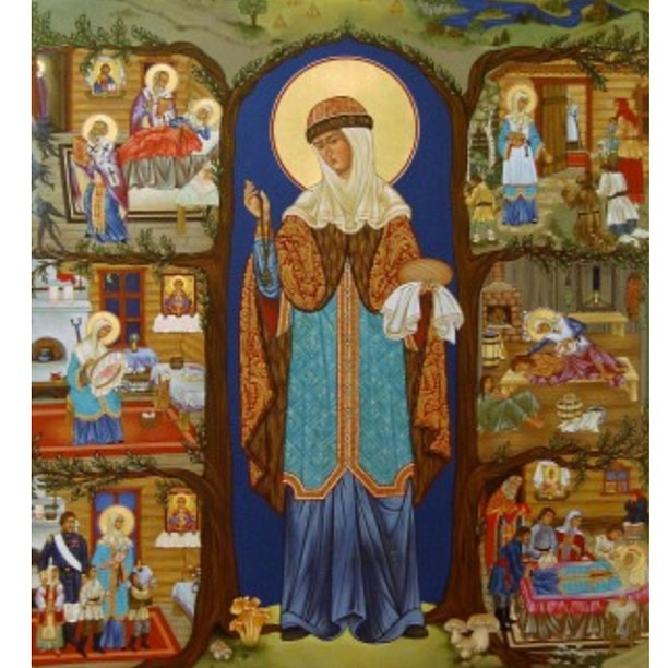 Completely amazing icon of Saint Juliana the Merciful at The Monastery of the Holy Transfiguration!