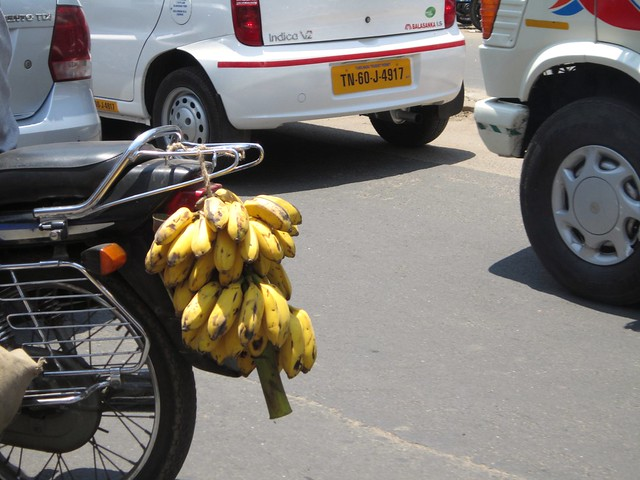 bananas on a bike