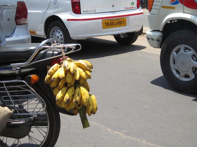 bananas on a bike