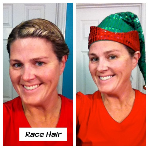 Race Hair for the Santa Run 2012