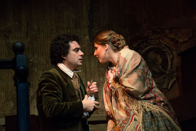 Rolando Villazón as Rodolfo and Maija Kovalevska as Mimì  in La bohème © ROH / Bill Cooper 2012