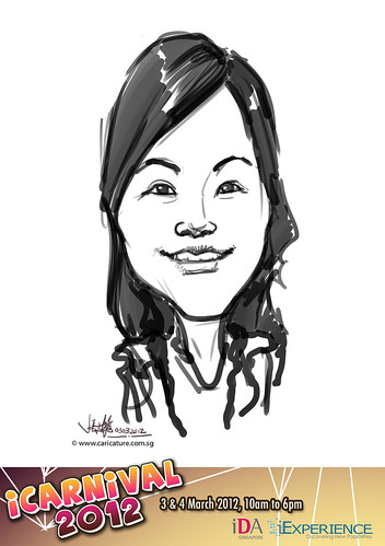 digital live caricature for iCarnival 2012  (IDA) - Day 1 - 86