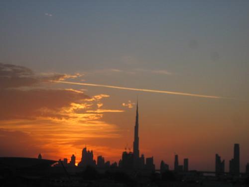 Dubai Skyline View from Crowne Plaza