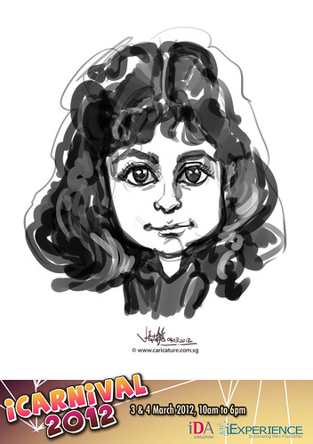 digital live caricature for iCarnival 2012  (IDA) - Day 2 - 16