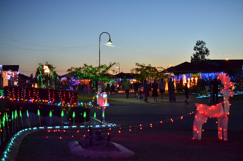 Street Christmas lights in Pakenham, Vic.
