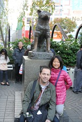 Helen at the Hachikō Statue by Chris & Kelly
