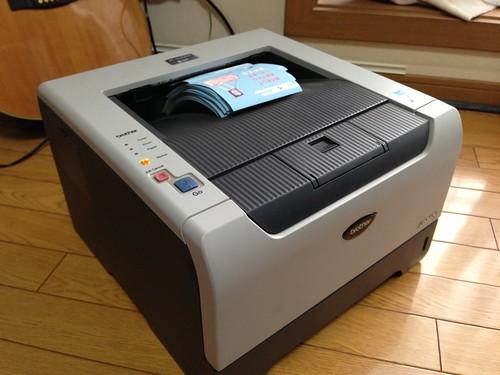 ブラザーのモノクロレーザープリンター HL-5250DN