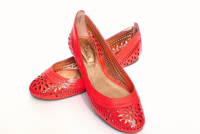 Coral Patent Leather Shoes