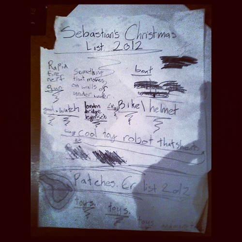 Sebastian's Christmas list. by frank.leahy