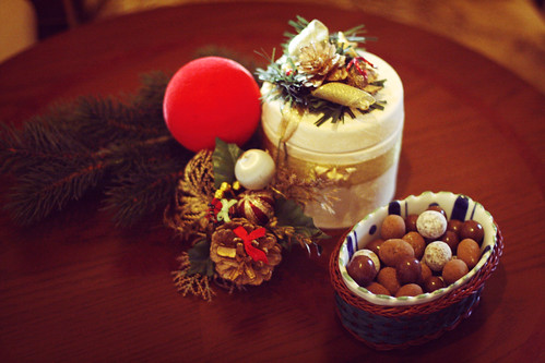 Healthy Christmas treats - chocolate covered nuts