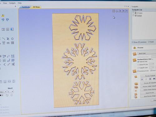 CNC Snowflakes 2